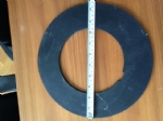 gasket-rubber disc for warp beam